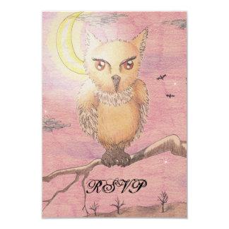 Midnight Eyes Cute Owl RSVP Goth Gothic Card