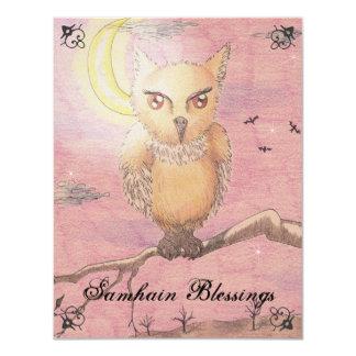 Midnight Eyes Cute Owl Samhain Goth Gothic Card