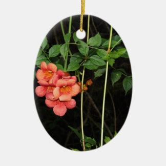 Midnight Flowers Ceramic Ornament