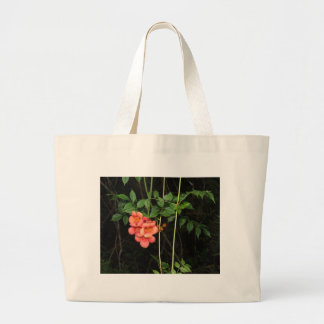 Midnight Flowers Large Tote Bag