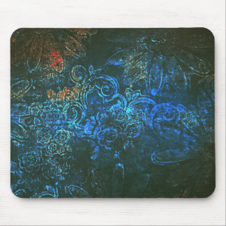 Midnight flowers mouse mat mouse pad