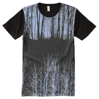 Midnight Forest Customizable All-Over-Print T-Shirt