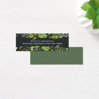 Midnight Garden Bridal Registry Insert Card | Mini