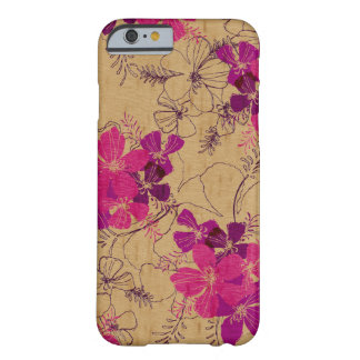 Midnight Garden Hawaiian Faux Wood Barely There iPhone 6 Case