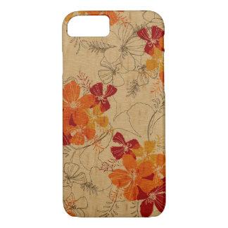 Midnight Garden Hawaiian Faux Wood iPhone 8/7 Case