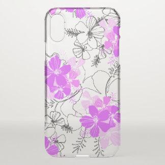 Midnight Garden Hawaiian Hibiscus Violet iPhone X Case