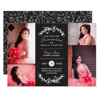 Midnight Garden Quinceañera Invite