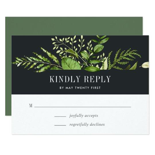 Midnight Garden RSVP Card