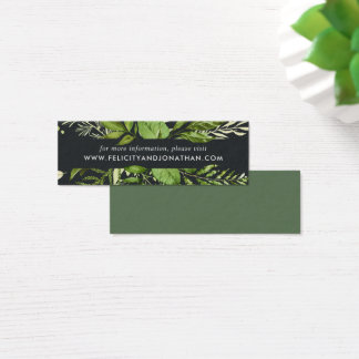 Midnight Garden Wedding Website Cards | Mini