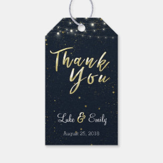 Midnight Glamour Wedding Favour Thank You Pack Of Gift Tags
