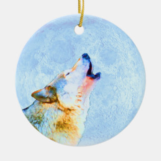 Midnight Howl Moon Ornament