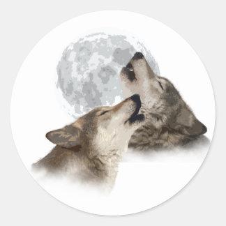 Midnight Howling Round Sticker