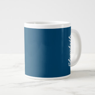Midnight Indigo Solid Color Large Coffee Mug
