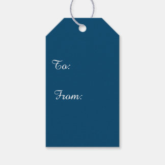 Midnight Indigo Solid Color Pack Of Gift Tags