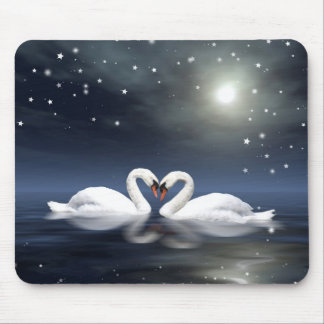 Midnight love mouse pad