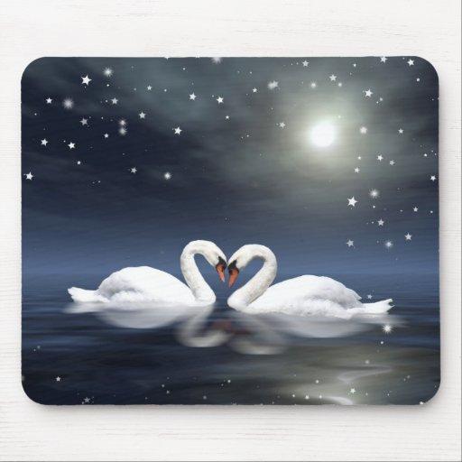 Midnight love mousepad