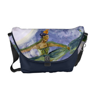 Midnight Majesty Moon Goddess  Messenger Bag