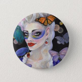 Midnight Masquerade Fairy 2 Inch Round Button