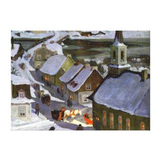 Midnight Mass, fine art painting Canvas Print