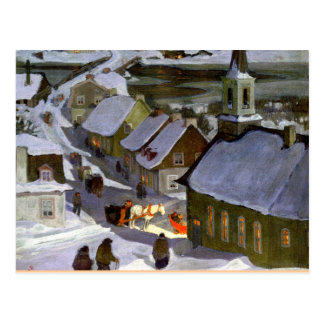 Midnight Mass, fine art painting Postcard