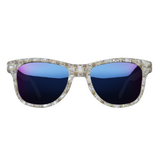 Midnight Mirrored & Rhinestoned Sunglasses
