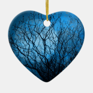 Midnight Moon Ceramic Ornament