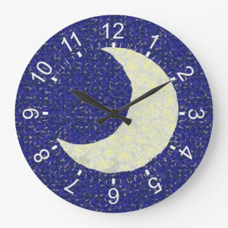 Midnight Moon Large Clock