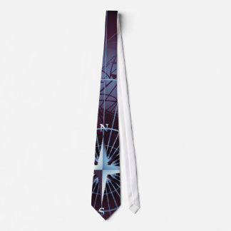 Midnight Nautical Compass Sailing Ships Tie