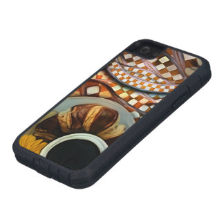 Midnight Never Ends, a Red Checkered Diner Fractal iPhone 5 Case