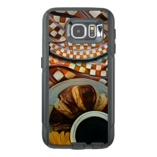 Midnight Never Ends, a Red Checkered Diner Fractal OtterBox Samsung Galaxy S6 Case