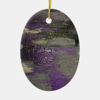 Midnight on Canvas Ceramic Ornament