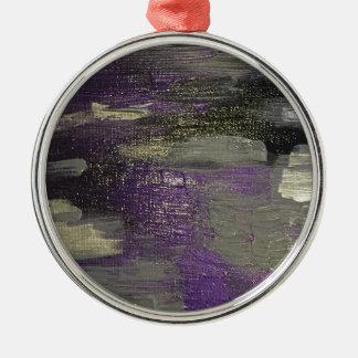 Midnight on Canvas Metal Ornament
