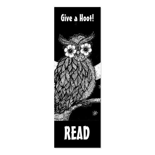 Midnight Owl Book Mark Business Card