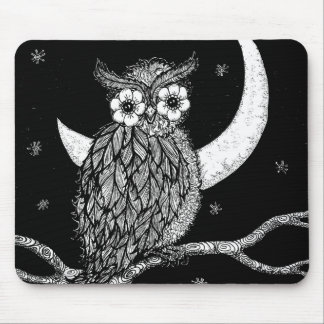 Midnight Owl Mouse Pad