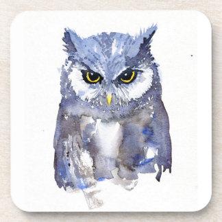 'Midnight Owl' Watercolour Coaster Set of 6
