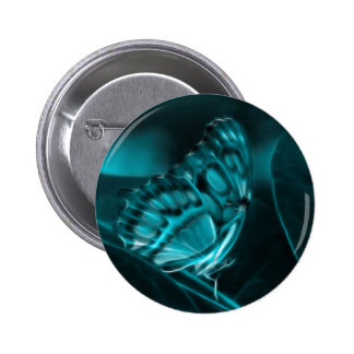 Midnight Passion, Blue Butterfly Kisses 2 Inch Round Button