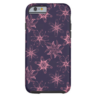 Midnight Purple Pink Floral Abstract iPhone Case