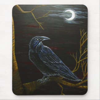 Midnight Raven Mouse Pad