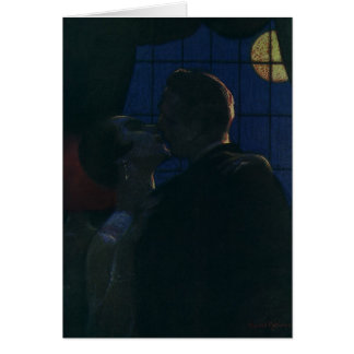 Midnight Rendezvous, Lovers by the Full Moon Card