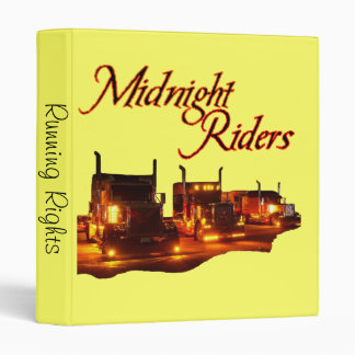 Midnight Rider's Trucker's Running Rights Binder