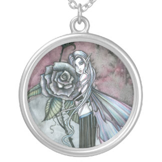 Midnight Rose Fairy Sterling Necklace