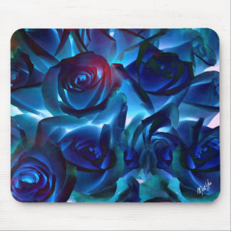 Midnight Roses Floral Art Mouse Pad
