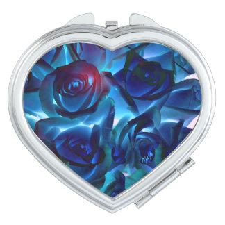 Midnight Roses Heart Duo Mirror Compact Compact Mirror