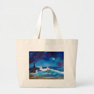 Midnight Sea Large Tote Bag