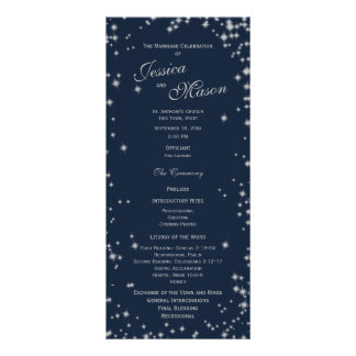Midnight Sky Twinkle Navy Blue and Silver Rack Card