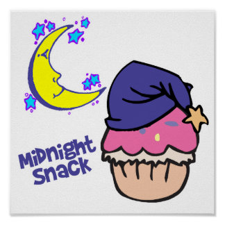 Midnight Snack Cupcake Posters
