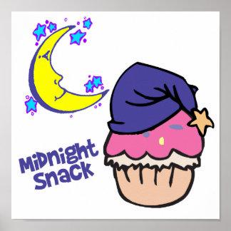 Midnight Snack Cupcake Poster