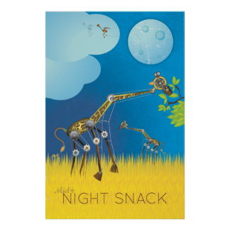 Midnight Snack Robot Giraffe Posters