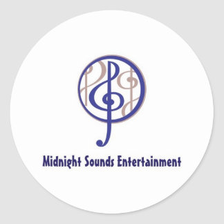 Midnight Sounds Classic Round Sticker