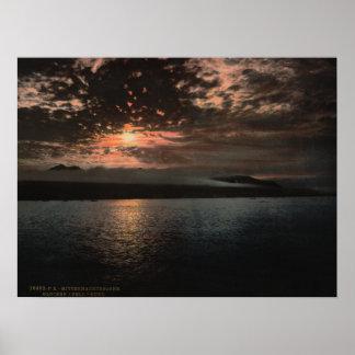Midnight Sun, Bell Sound, Norway Poster